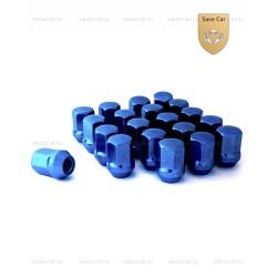 Гайка цветная в блистере, синяя M12×1.50