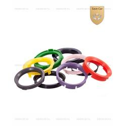РК23 Пластиковые центровочные кольца 72.6-57.1