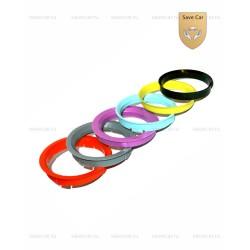 РК25 Пластиковые центровочные кольца 72.6-60.1