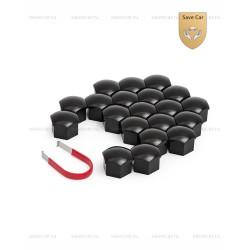 Колпачки пластиковые для болтов и гаек Блистер 20+1 под ключ 19 черные