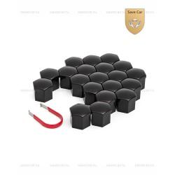 Колпачки пластиковые для болтов и гаек Блистер 20+1 под ключ 21 черные