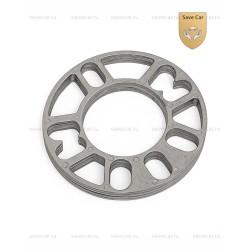 DS02 Проставки н/в диаметр 152/76 мм, под 4 и 5 отверстий, толщина 5 мм, алюминиевые